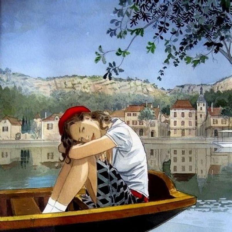 O quebra-cabeça Recolher o quebra-cabeças on-line - The girl on the boat