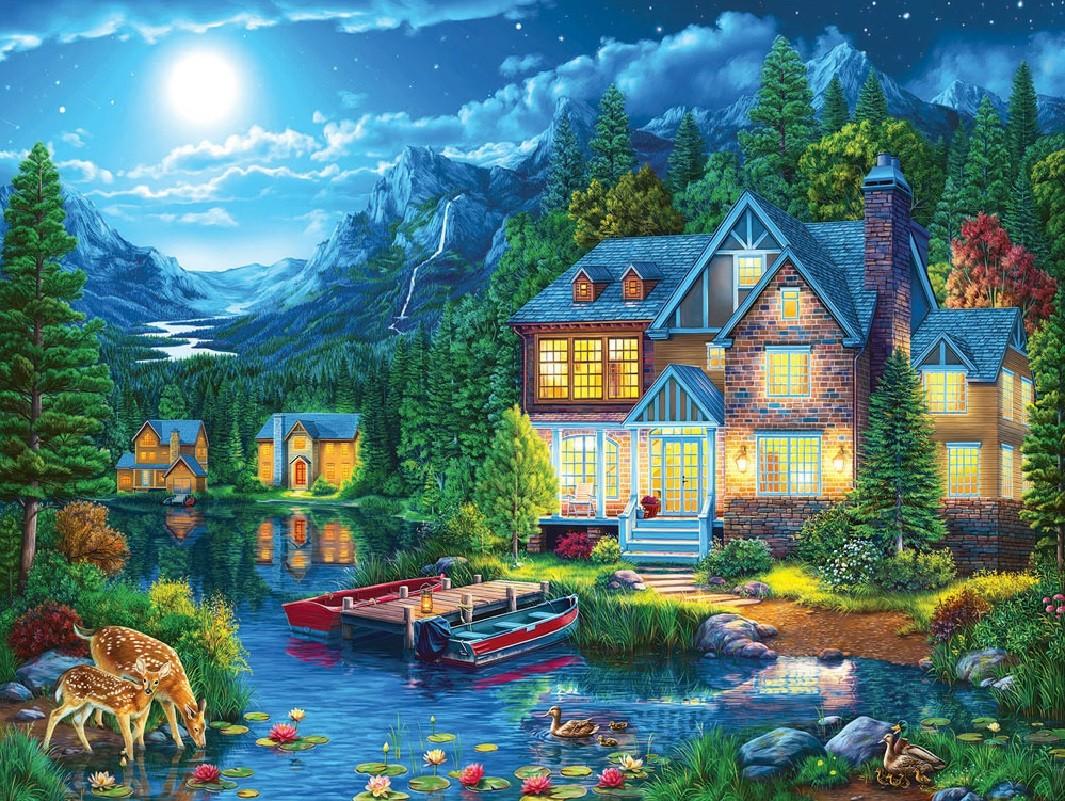 O quebra-cabeça Recolher o quebra-cabeças on-line - The lake house