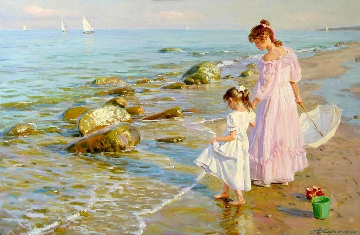 O quebra-cabeça Recolher o quebra-cabeças on-line - Two sisters on the shore