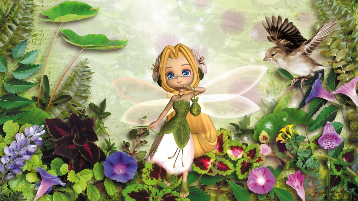O quebra-cabeça Recolher o quebra-cabeças on-line - Flower fairy