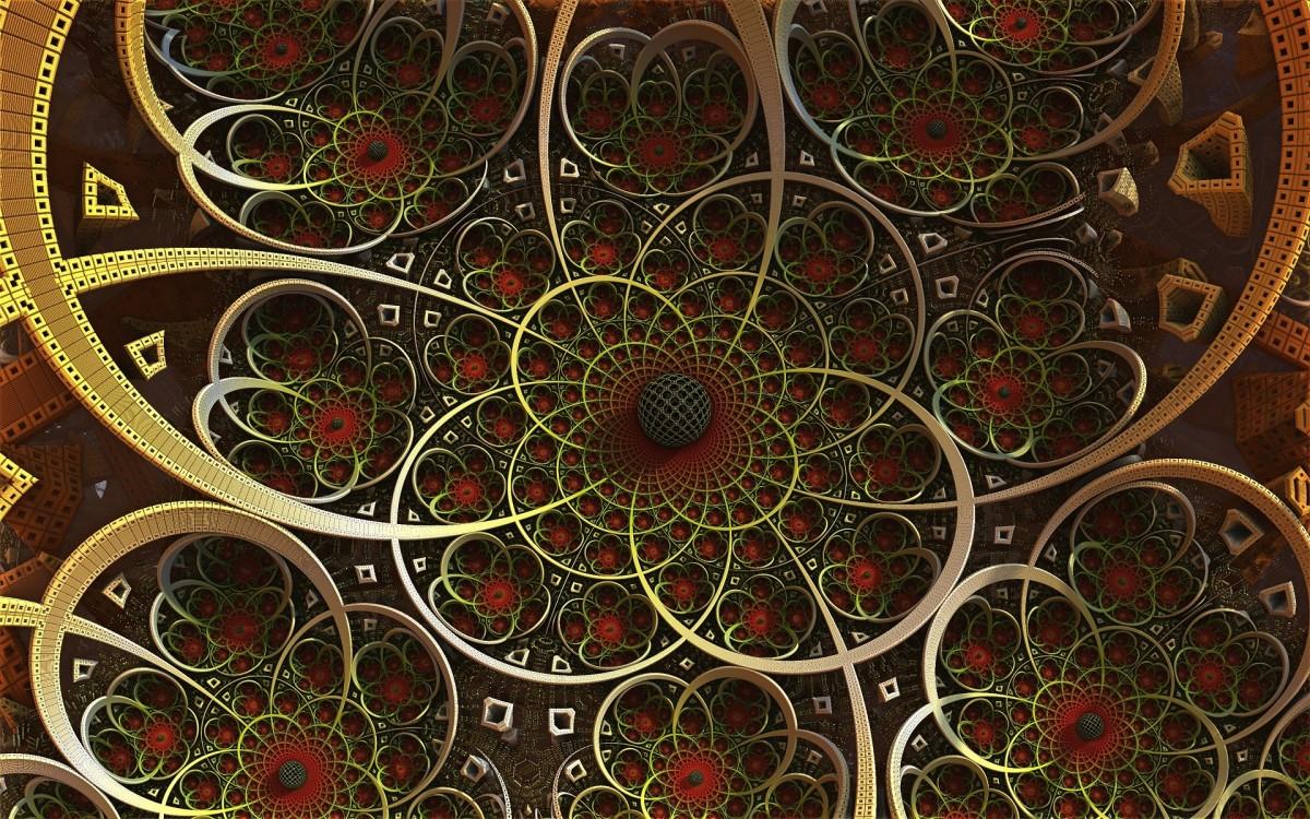 O quebra-cabeça Recolher o quebra-cabeças on-line - A fractal with a ball