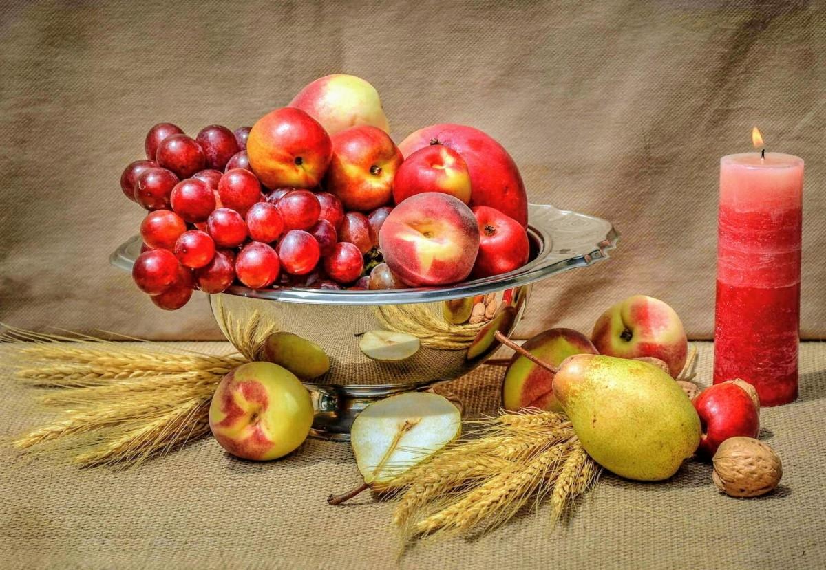 O quebra-cabeça Recolher o quebra-cabeças on-line - Fruit and candle