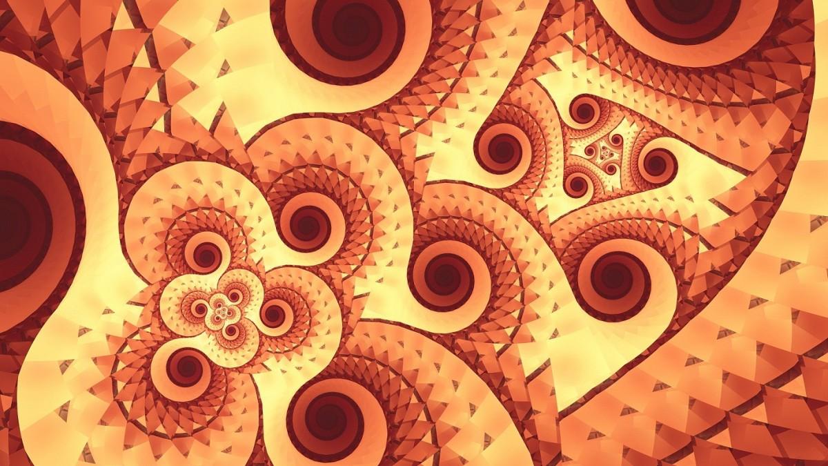 O quebra-cabeça Recolher o quebra-cabeças on-line - Brown spiral