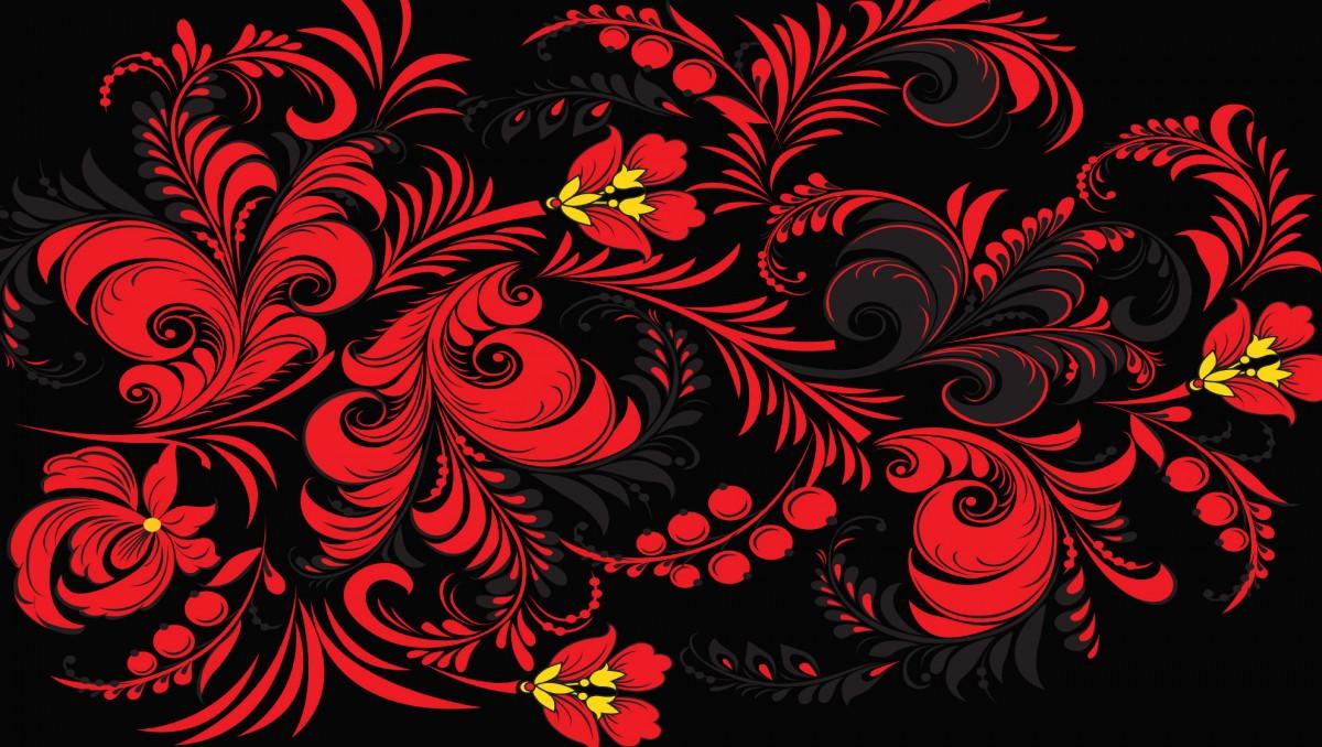 O quebra-cabeça Recolher o quebra-cabeças on-line - Red and black pattern