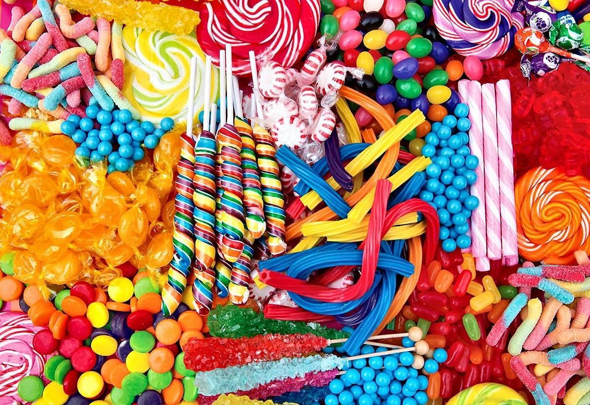 O quebra-cabeça Recolher o quebra-cabeças on-line - Candy assorted