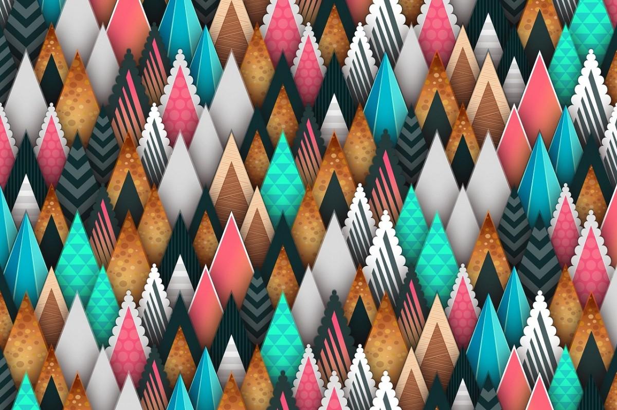 O quebra-cabeça Recolher o quebra-cabeças on-line - Forest triangles