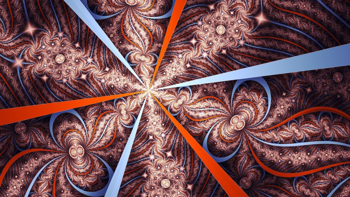 O quebra-cabeça Recolher o quebra-cabeças on-line - Rays and swirls