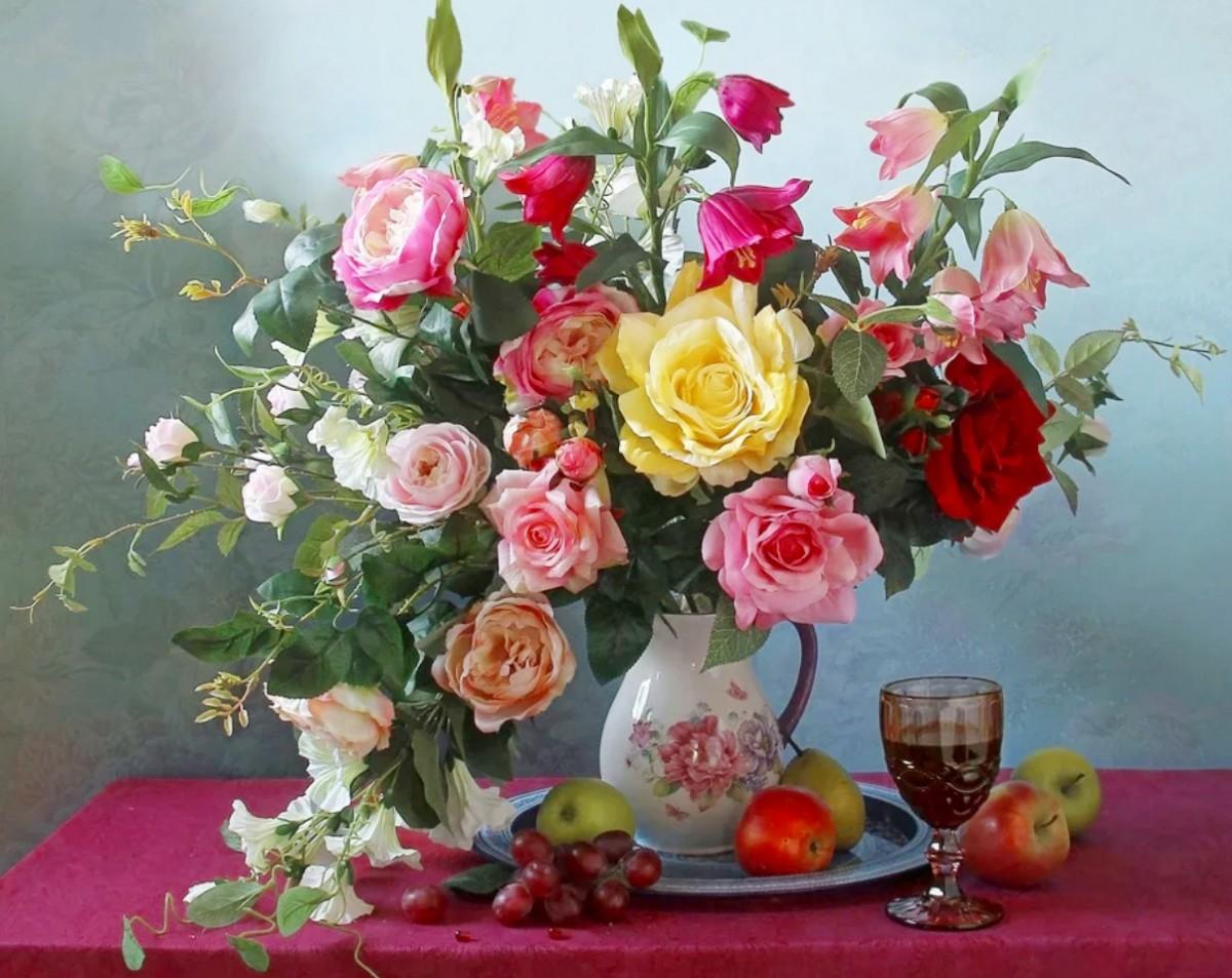 O quebra-cabeça Recolher o quebra-cabeças on-line - Still life with flowers