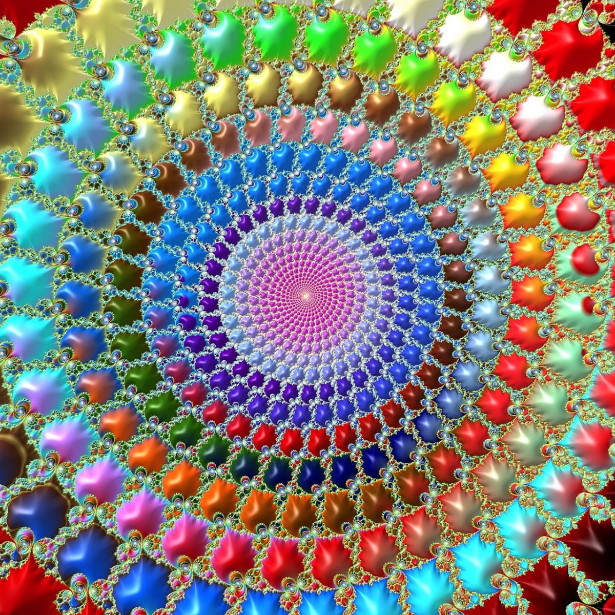 O quebra-cabeça Recolher o quebra-cabeças on-line - Rainbow spiral