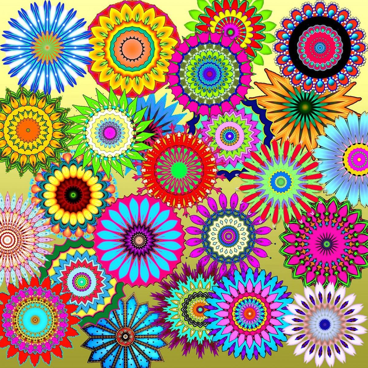 O quebra-cabeça Recolher o quebra-cabeças on-line - Rainbow assorted