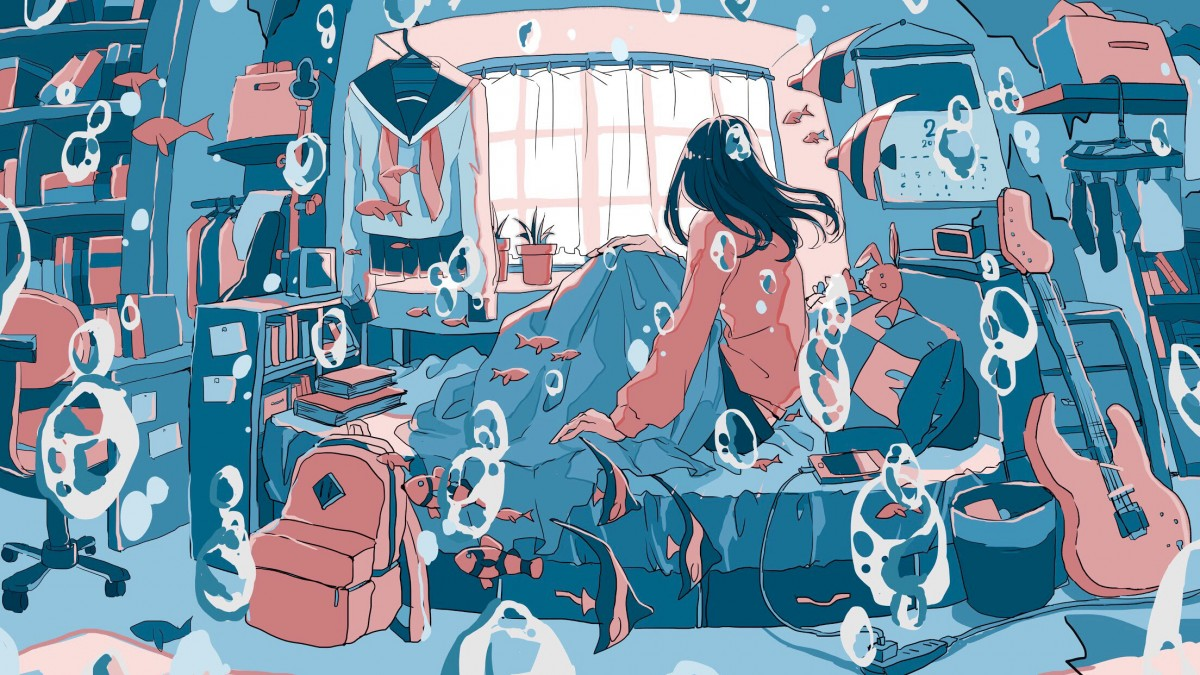 O quebra-cabeça Recolher o quebra-cabeças on-line - Pink and blue