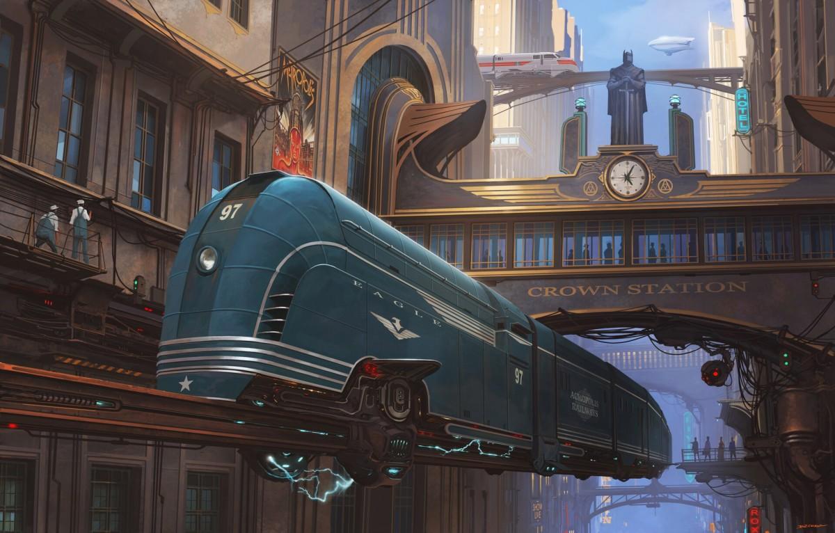 O quebra-cabeça Recolher o quebra-cabeças on-line - Blue locomotive