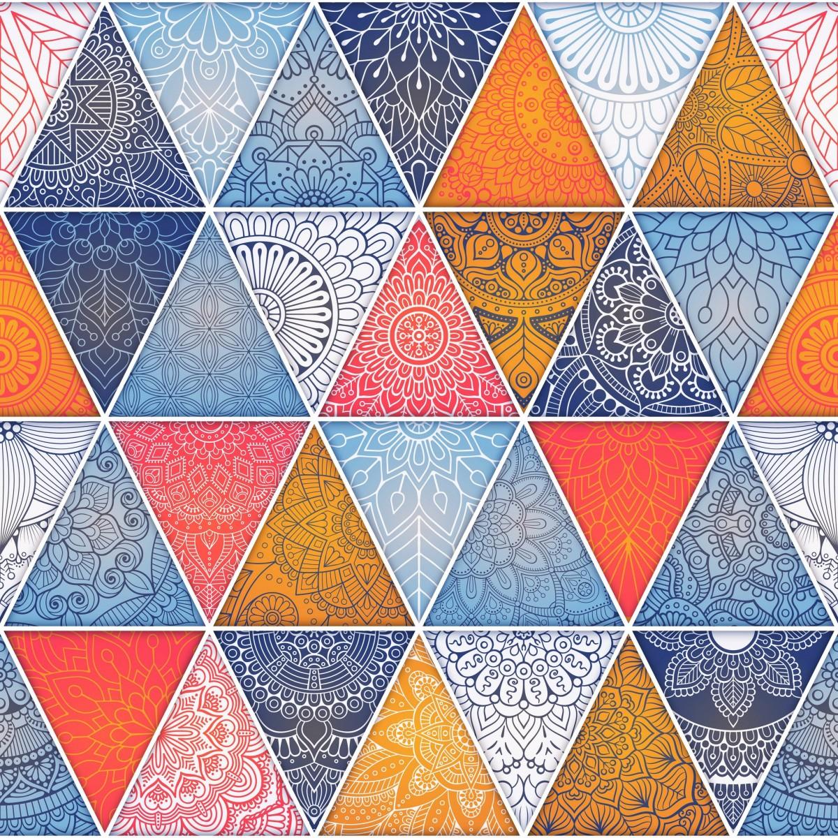 O quebra-cabeça Recolher o quebra-cabeças on-line - Triangles