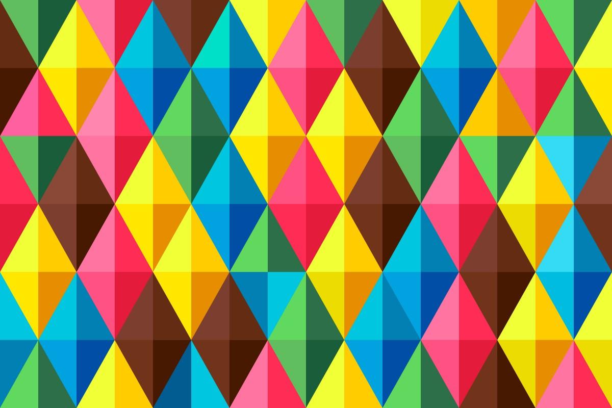 O quebra-cabeça Recolher o quebra-cabeças on-line - Triangles and rhombuses