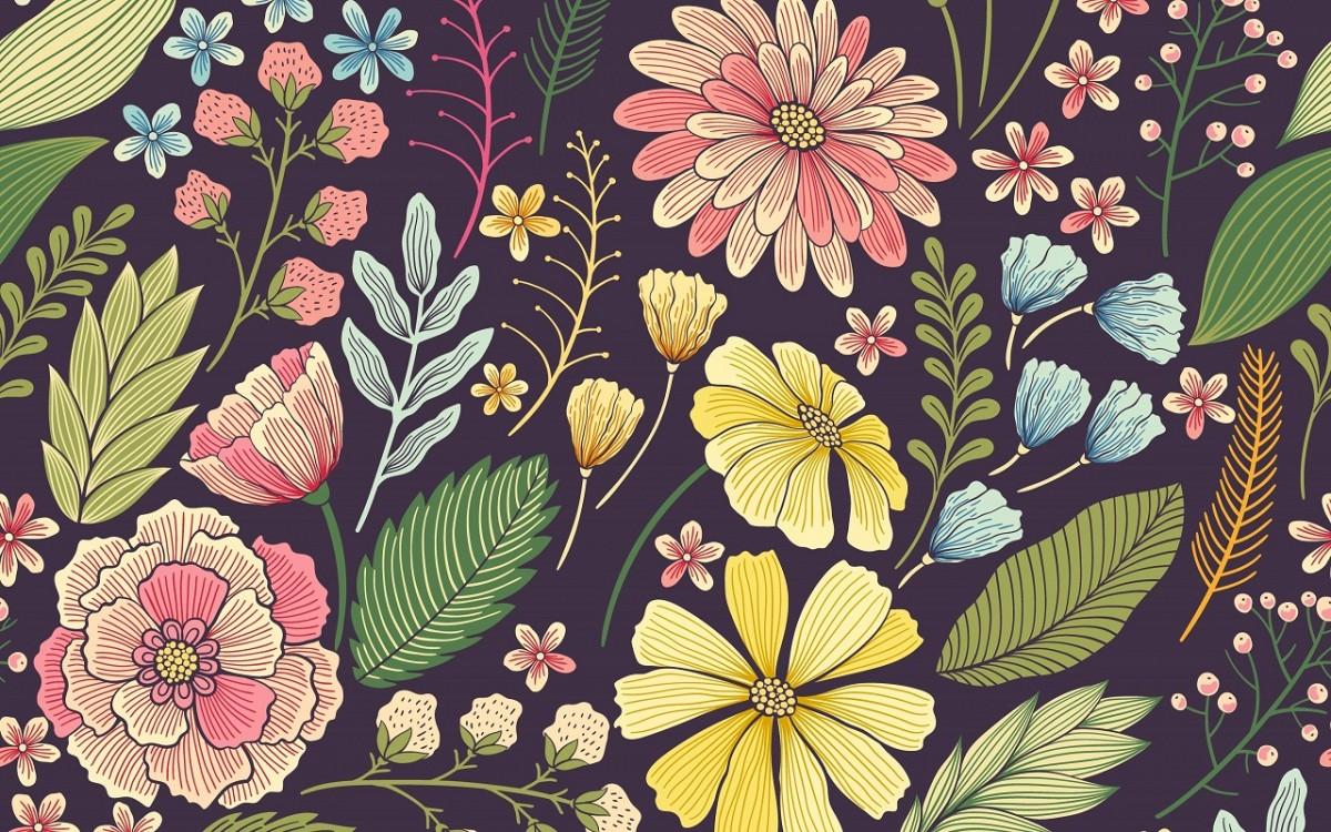 O quebra-cabeça Recolher o quebra-cabeças on-line - Flowers on a dark background