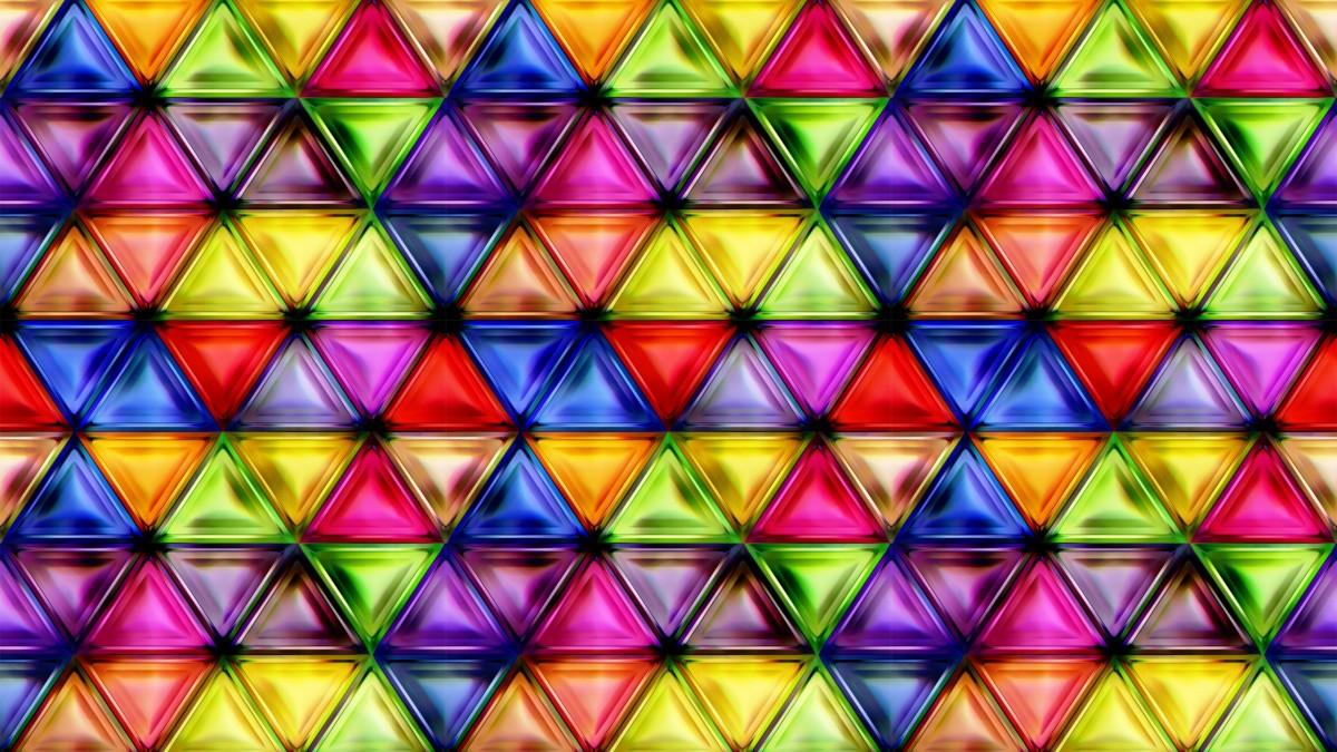 O quebra-cabeça Recolher o quebra-cabeças on-line - Tsvetnie treugolniki