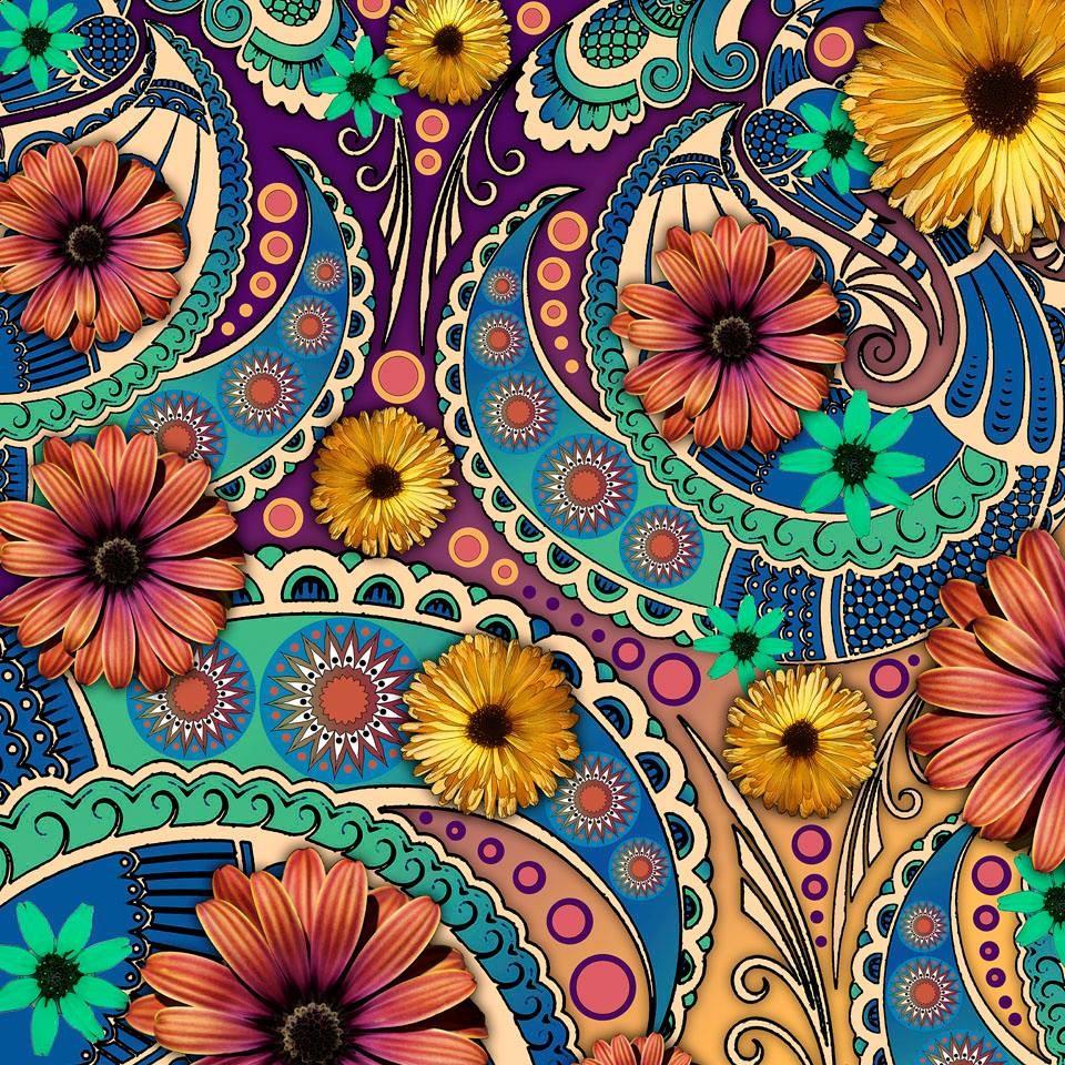 O quebra-cabeça Recolher o quebra-cabeças on-line - Floral pattern