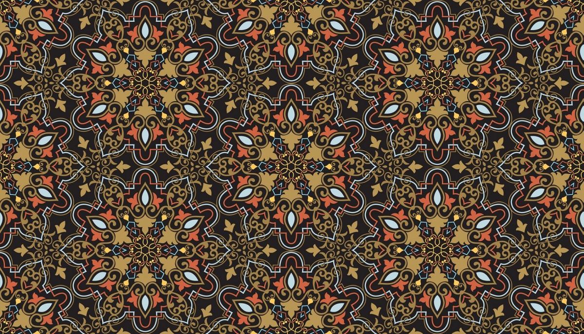 O quebra-cabeça Recolher o quebra-cabeças on-line - Pattern on a dark background