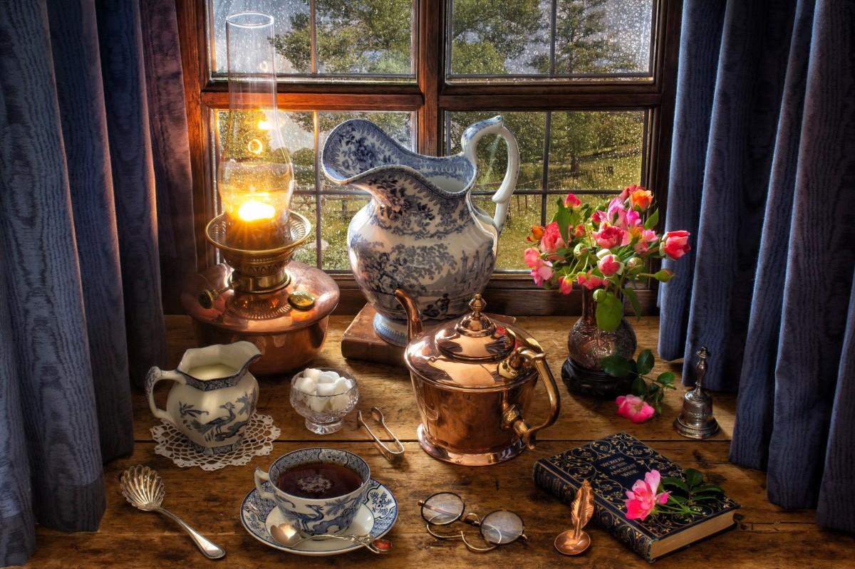O quebra-cabeça Recolher o quebra-cabeças on-line - Evening tea
