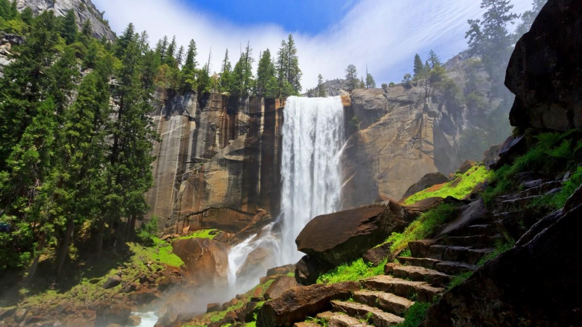 O quebra-cabeça Recolher o quebra-cabeças on-line - Waterfall and steps