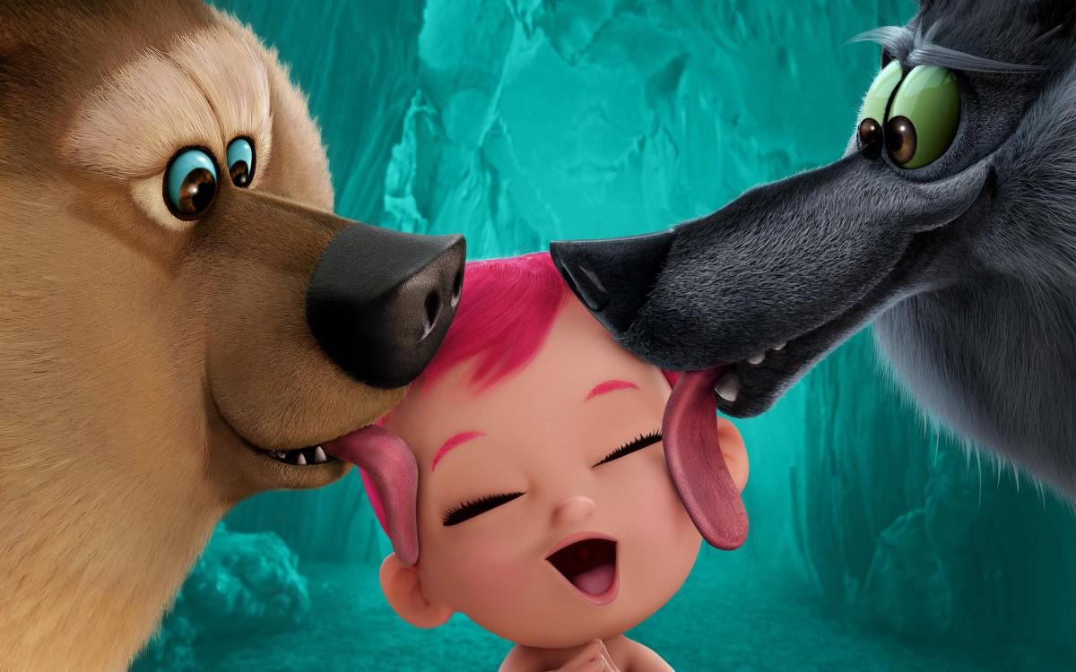 O quebra-cabeça Recolher o quebra-cabeças on-line - The wolves and the baby