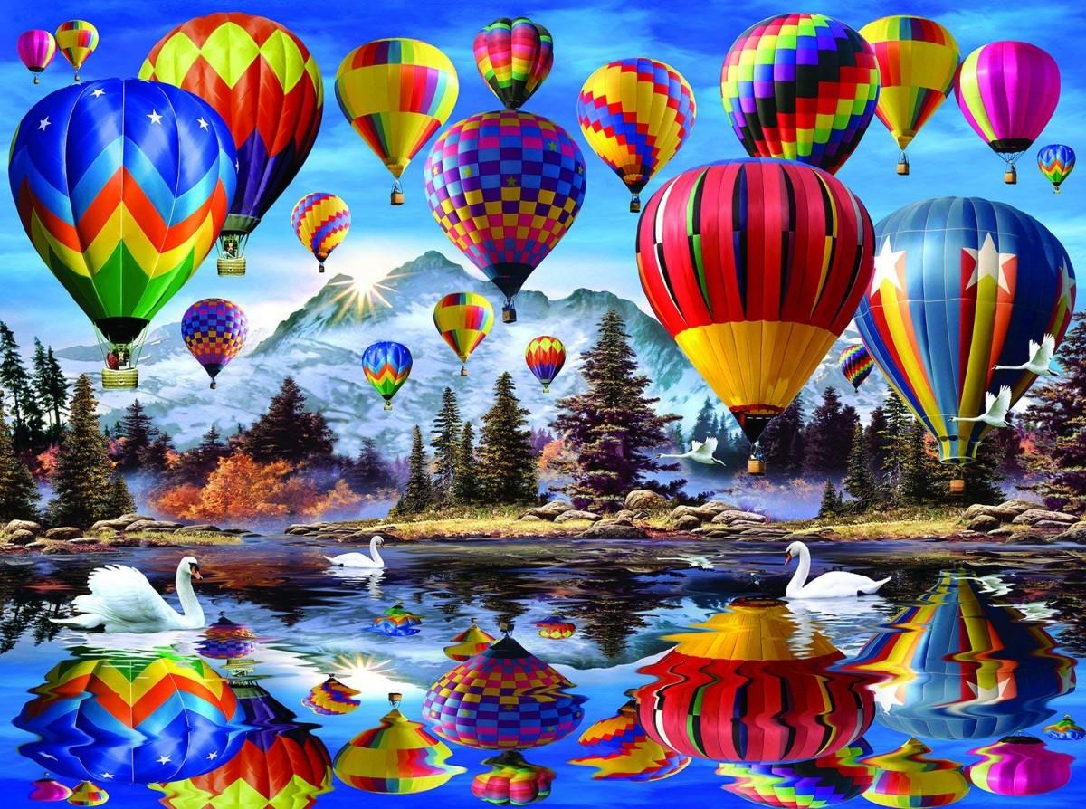 O quebra-cabeça Recolher o quebra-cabeças on-line - Balloons