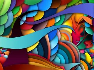 Собирать пазл 3D abstraction онлайн