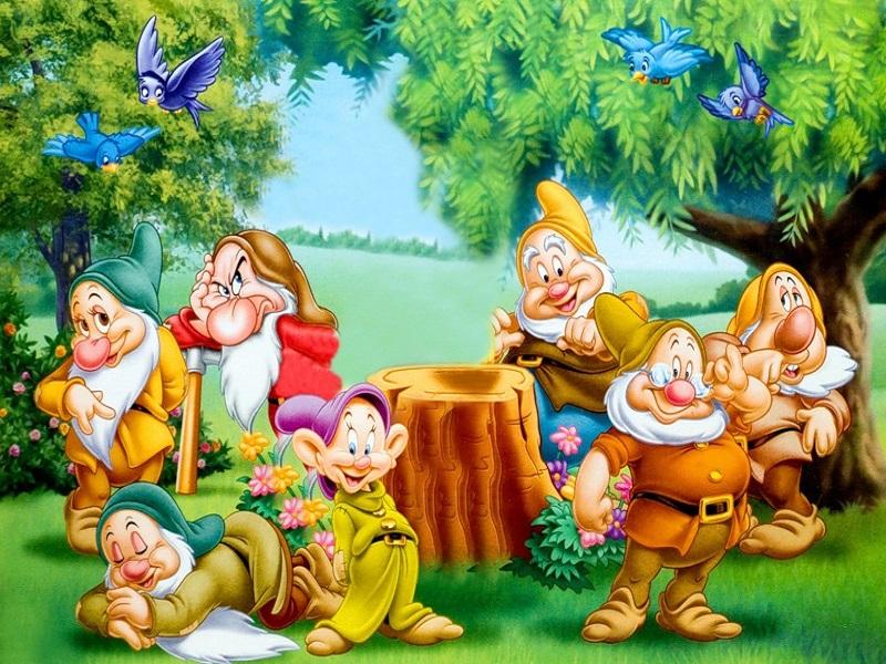 O quebra-cabeça Recolher o quebra-cabeças on-line - Seven dwarves