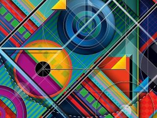 Собирать пазл Abstraction with circles онлайн