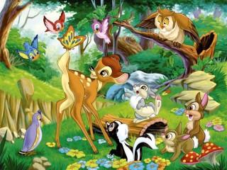 Собирать пазл Bambi with your friends онлайн