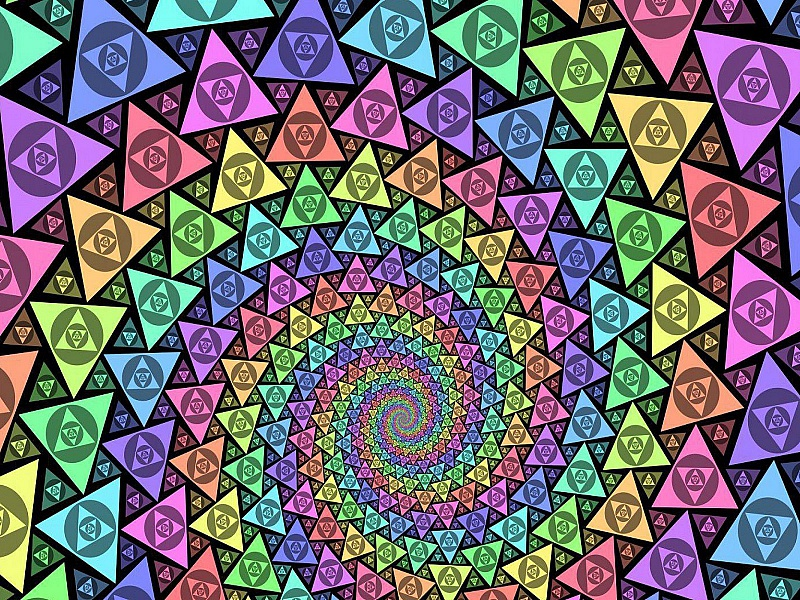 O quebra-cabeça Recolher o quebra-cabeças on-line - Endless spiral
