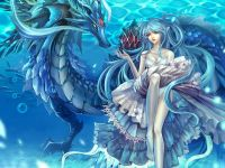Собирать пазл The girl and dragon онлайн