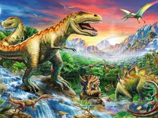 Собирать пазл Dinosaurs онлайн
