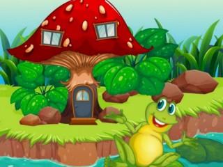 Собирать пазл Frog house онлайн