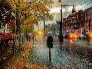 Собирать пазл Rainy Petersburg онлайн
