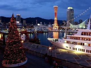 Собирать пазл Tree in the port of Kobe онлайн