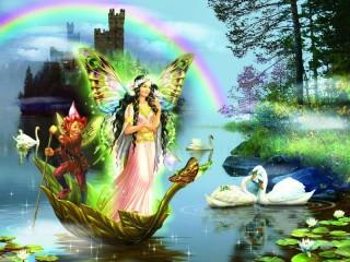 Собирать пазл Fairy and elf онлайн