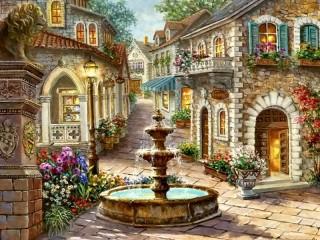 Собирать пазл Fountain 2 онлайн