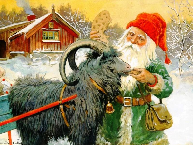 O quebra-cabeça Recolher o quebra-cabeças on-line - Dwarf and goat
