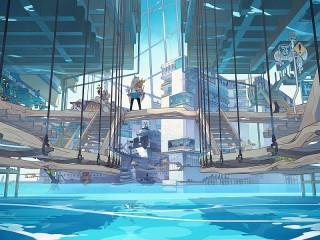 Собирать пазл City on the water онлайн