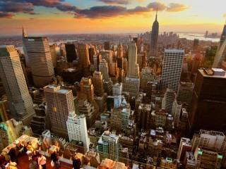 Собирать пазл The city from a height онлайн