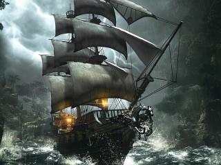 Собирать пазл Storm seas онлайн