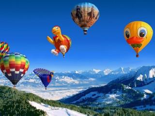 Собирать пазл Balloons competition онлайн