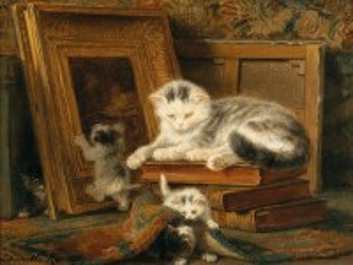 Собирать пазл Kittens and hide and seek онлайн