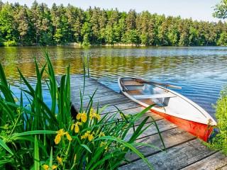 Собирать пазл Boat at the bridge онлайн
