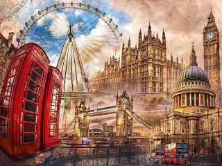 Собирать пазл London онлайн