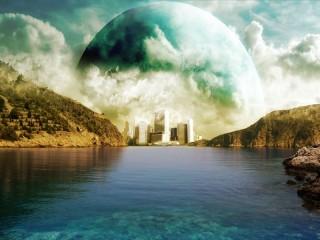 Собирать пазл moon over the city онлайн