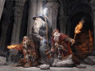 Собирать пазл Mage and dwarves онлайн