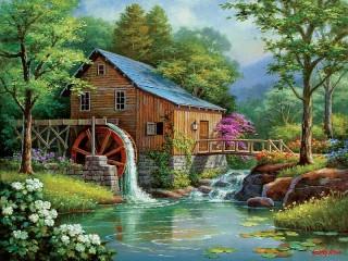 Собирать пазл Mill онлайн