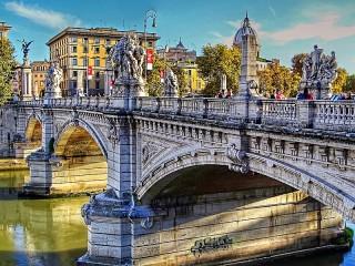 Собирать пазл Bridge in Rome онлайн